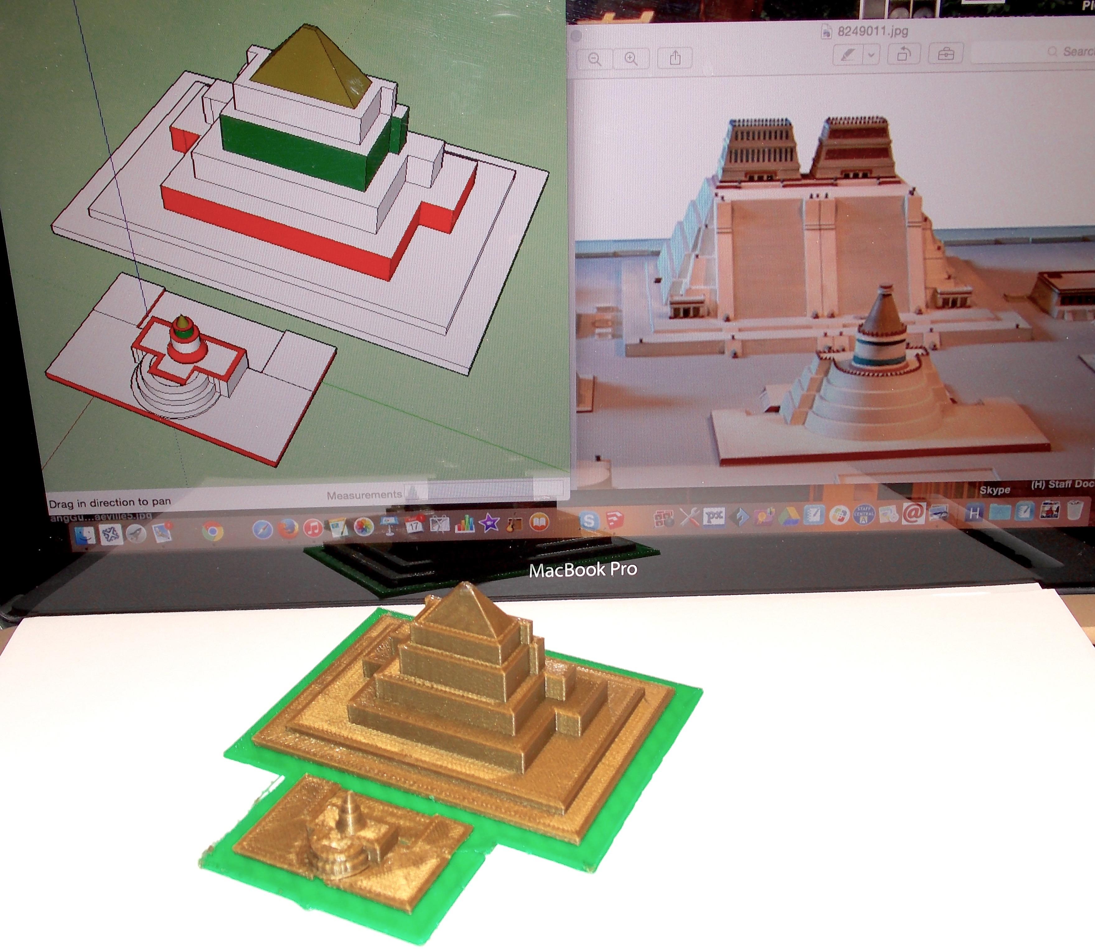 Architecture student: Aztec temple