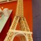 Architecture student model of the Eiffel Tower