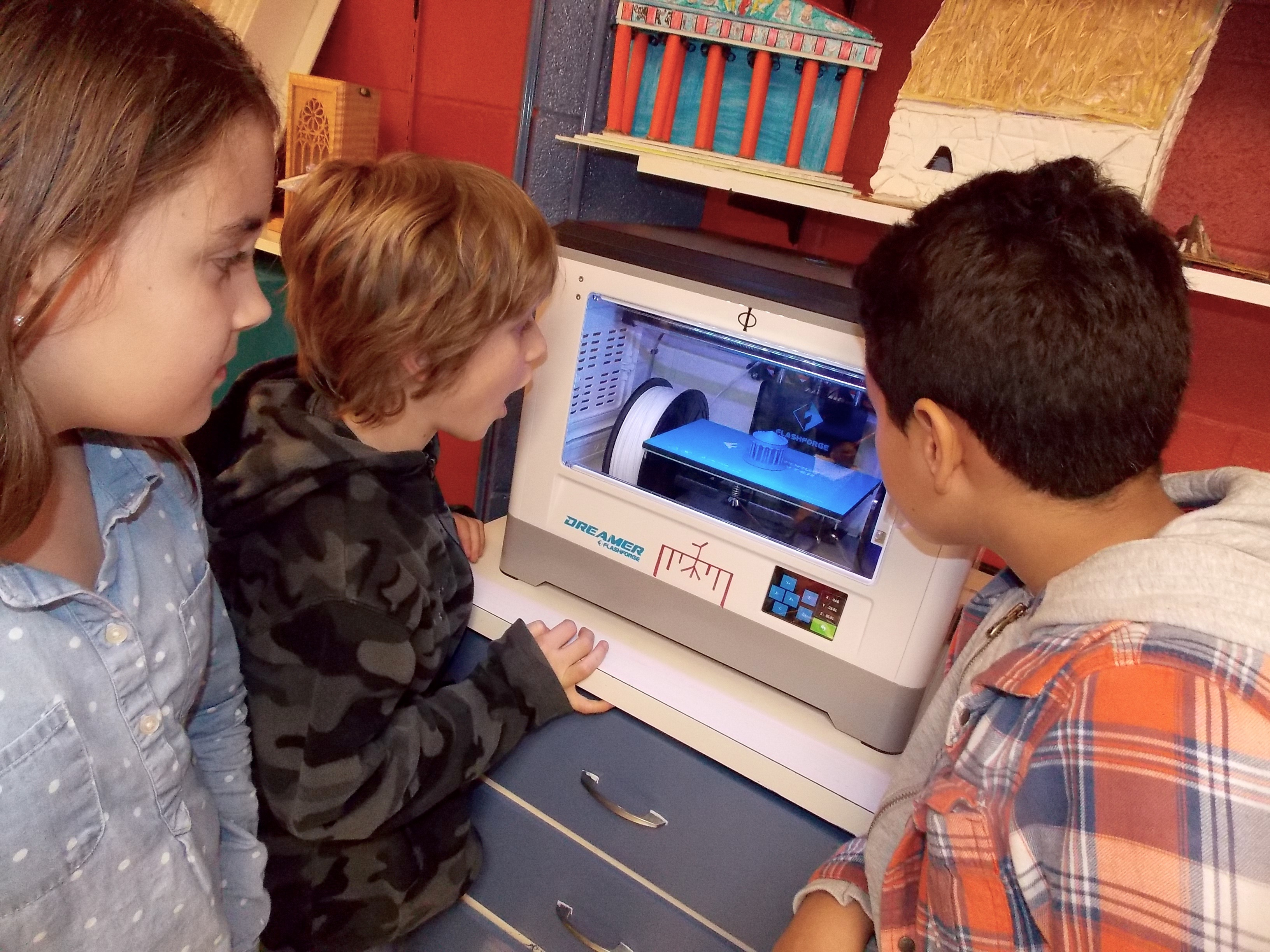 Architecture students delight in the new 3D printer