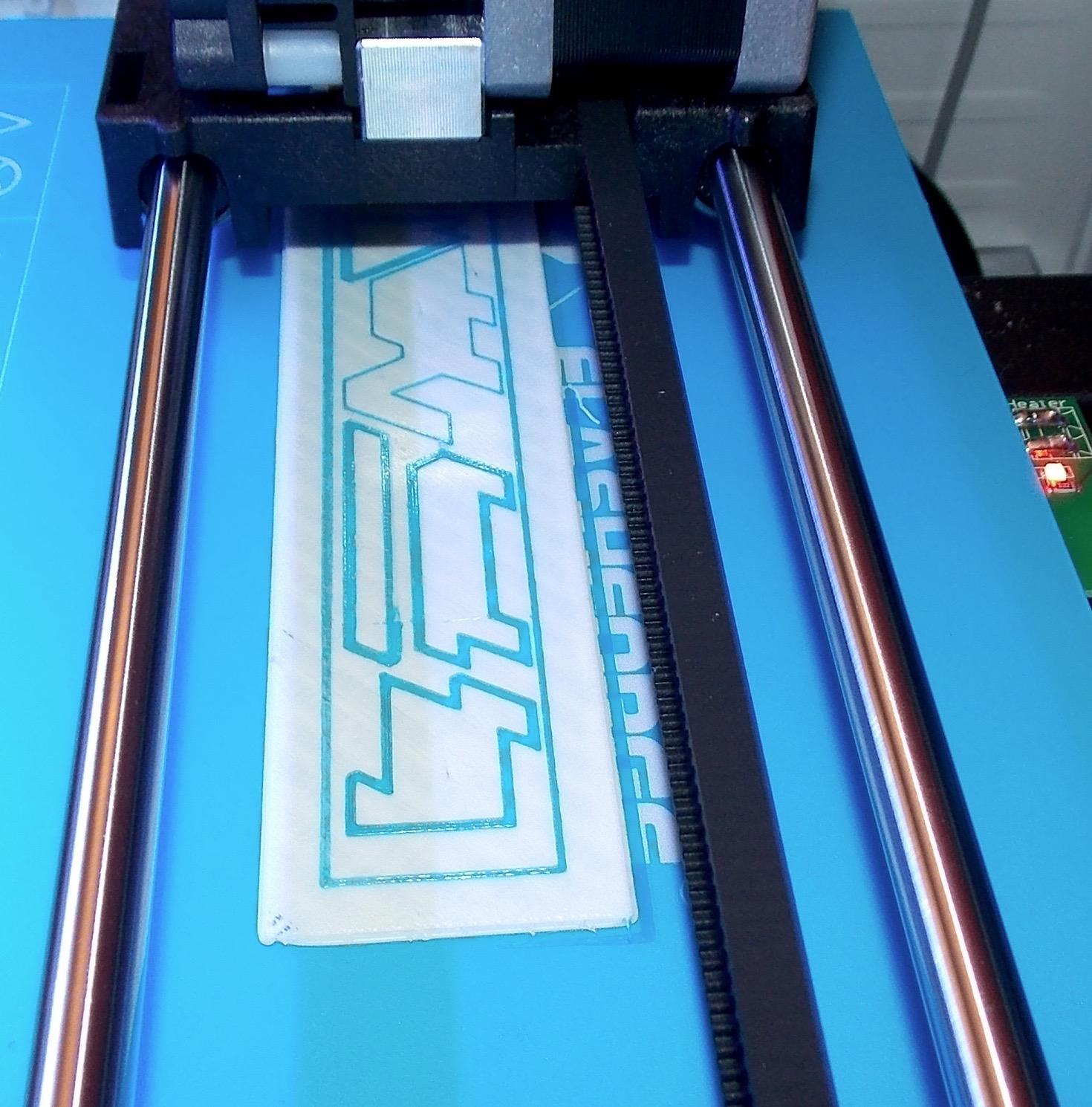 3D printer printing s Usonian panel