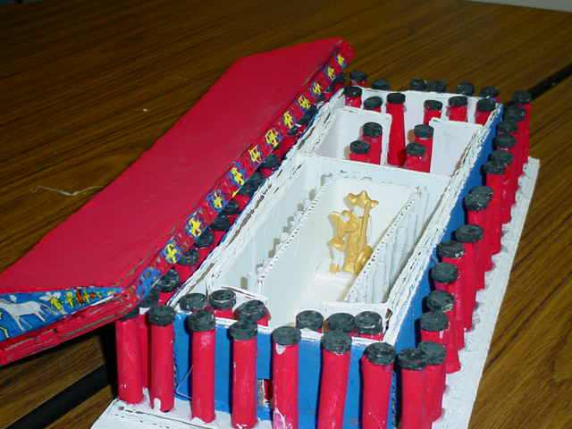 Architecture student model of a Greek temple