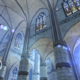 Architecture student uses virtual reality goggles to explore gothic cathedral architecture