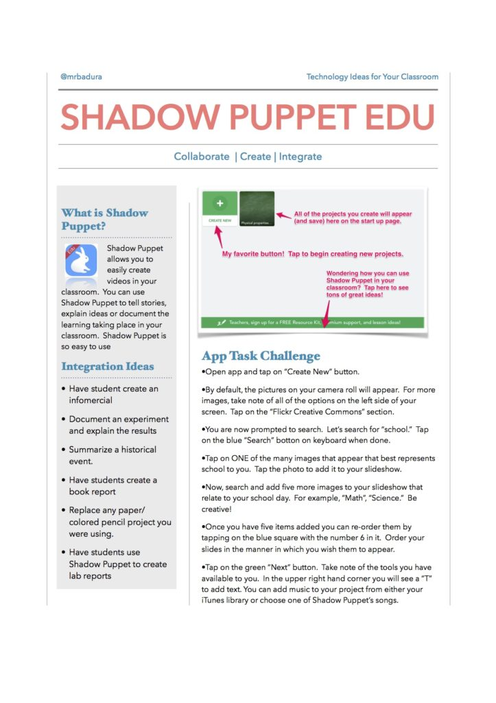 1 Shadow Puppet EDU