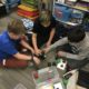 Students using Cubelets